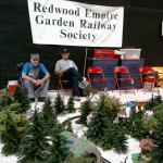 Terry Strom (on the left) with Redwood Empire Garden Railway Society.